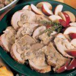 Pork Roast with Apple-Mushroom Sauce