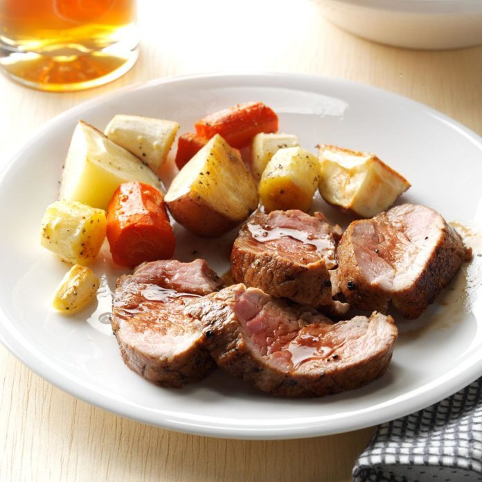 New Hampshire: Balsamic-Glazed Pork Tenderloin