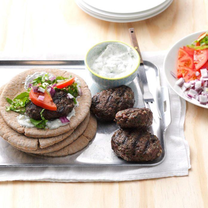 Mediterranean Meatball Sandwiches