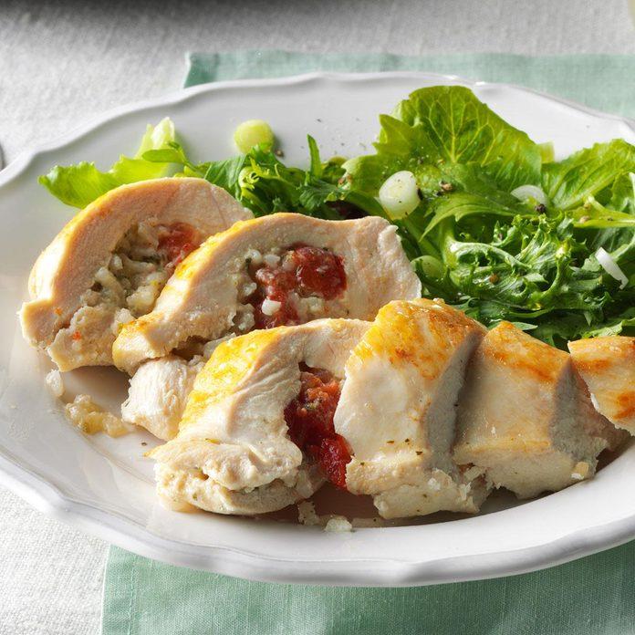 Pesto Rice-Stuffed Chicken