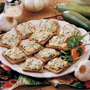 Toasted Zucchini Snacks
