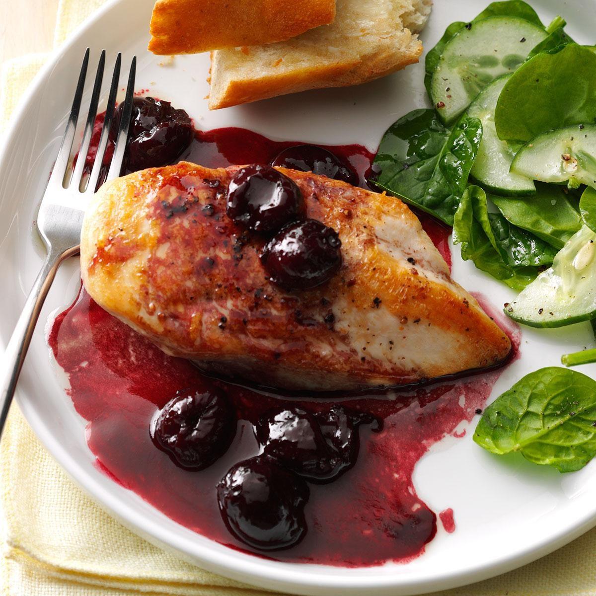 Chicken with Cherry Wine Sauce
