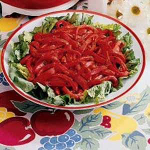 Sweet Red Pepper Salad