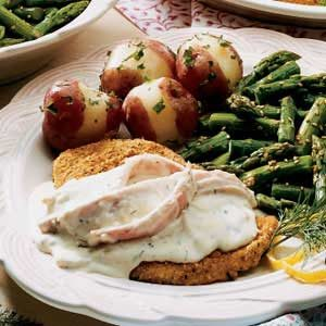 Chicken with Dilly Ham Sauce