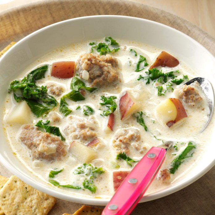 The Modern Take: Potato, Sausage & Kale Soup