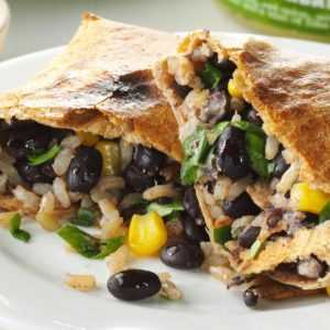 No-Fry Black Bean Chimichangas