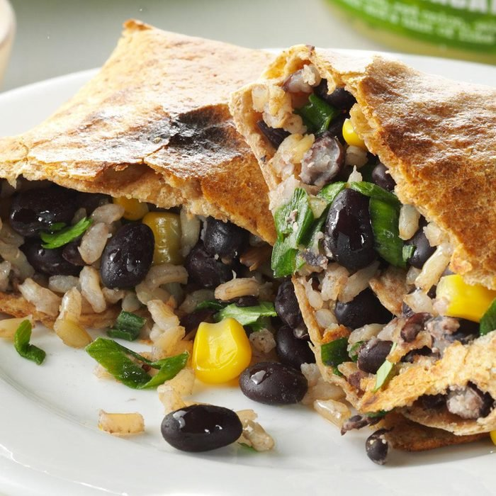 Day 2 Dinner: No-Fry Black Bean Chimichangas