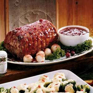 Festive Cranberry-Glazed Pork Roast