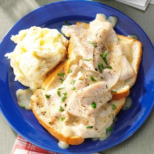 Blue Plate Open-Faced Turkey Sandwich