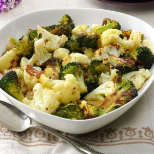 Roasted Broccoli & Cauliflower