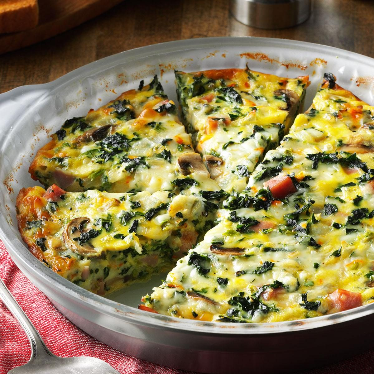 How to make crustless quiche fluffy