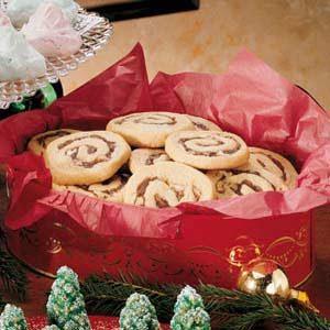 Walnut Date Swirl Cookies