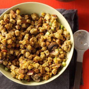 Slow Cooker Bacon-Mushroom Dressing