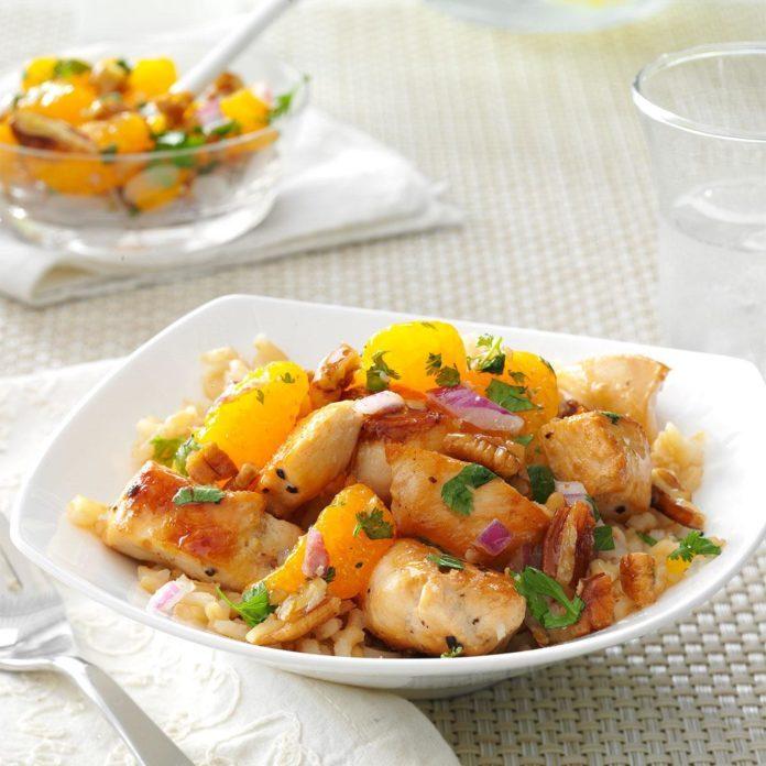 Chicken with Mandarin Salsa