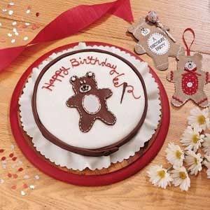 Stitched Teddy Bear Birthday Cake