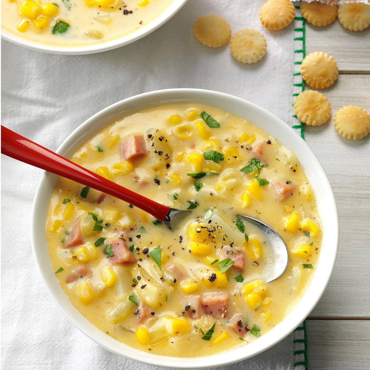 Cheesy Ham & Corn Chowder