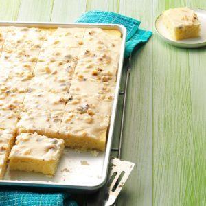 White Texas Sheet Cake