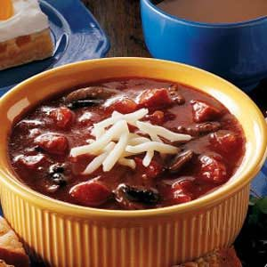 Pepperoni and Sausage Pizza Soup