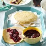 Berry Coulis with Dutch Pancakes
