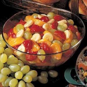 Quick Peach Fruit Salad