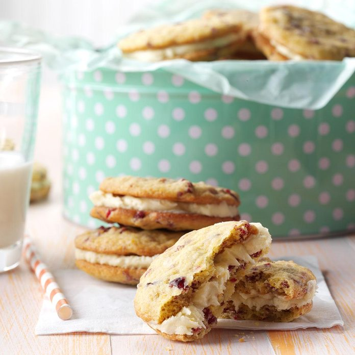 Cranberry Orange Sandwich Cookies