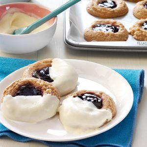 Blackberry-Filled Chocolate Thumbprints