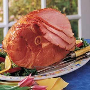 Apple-Mustard Glazed Ham