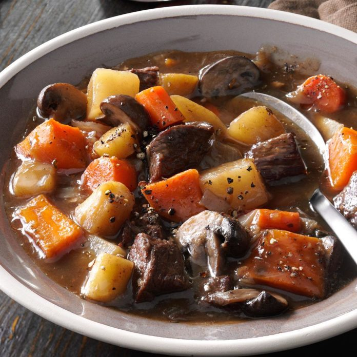 Hearty Beef & Sweet Potato Stew