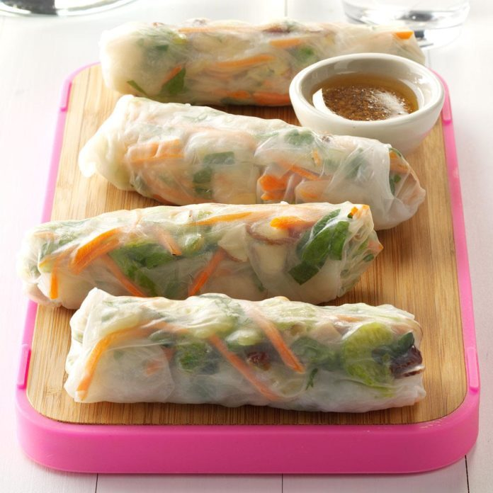 Day 12: Pork & Vegetable Spring Rolls