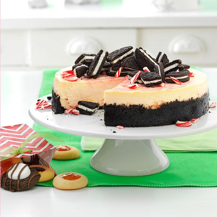 Inspired by: The Cheesecake Factory's Peppermint Bark Cheesecake