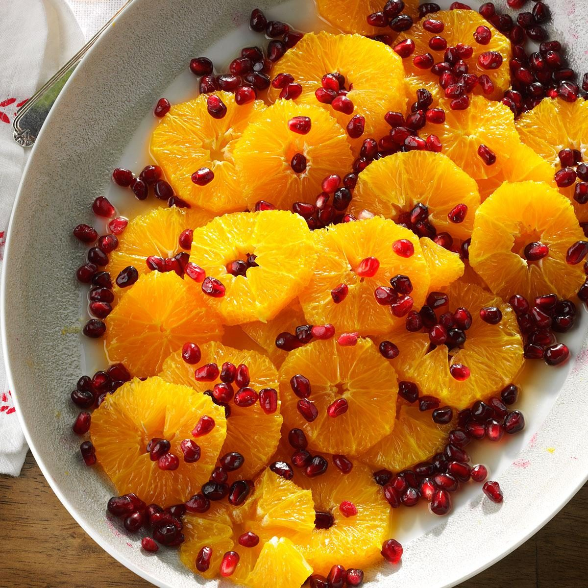 Orange Pomegranate Salad with Honey