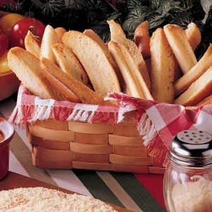Crispy Garlic Breadsticks