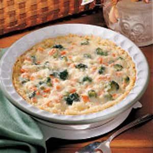 Vegetable Rice Pie