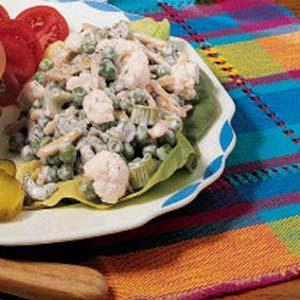 Creamy Crunchy Pea Salad