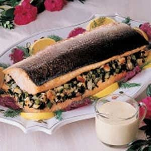 Spinach-Stuffed Salmon