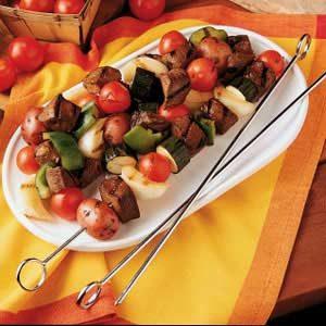 Grilled Venison and Vegetables