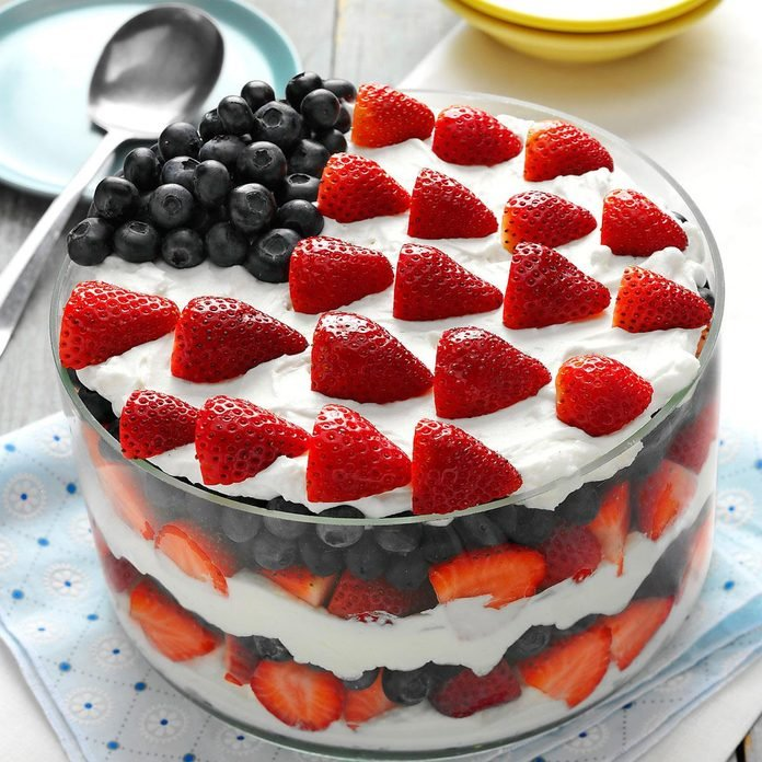 Traditional: Red, White and Blue Dessert