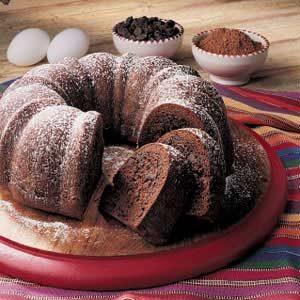 Chocolate Tube Pan Cake