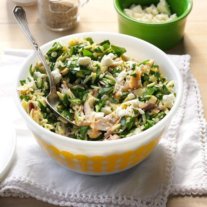 Double-Duty Chicken & Feta Spinach Salad