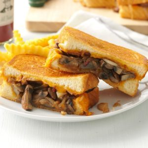 Mushroom & Onion Grilled Cheese Sandwiches