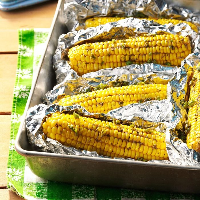Grilled Spicy Corn on the Cob