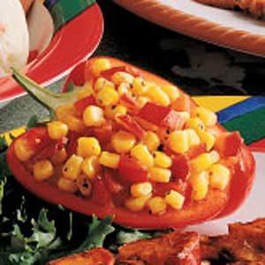 Corn Relish in Pepper Cups