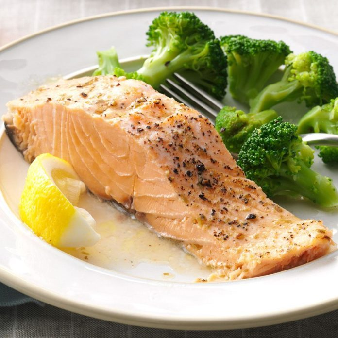 Monday's Dinner: Baked Salmon