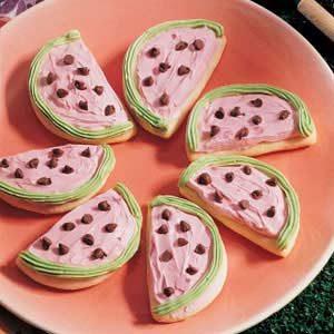 Watermelon Sugar Cookies