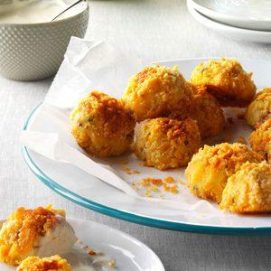 Bacon-Cheddar Potato Croquettes