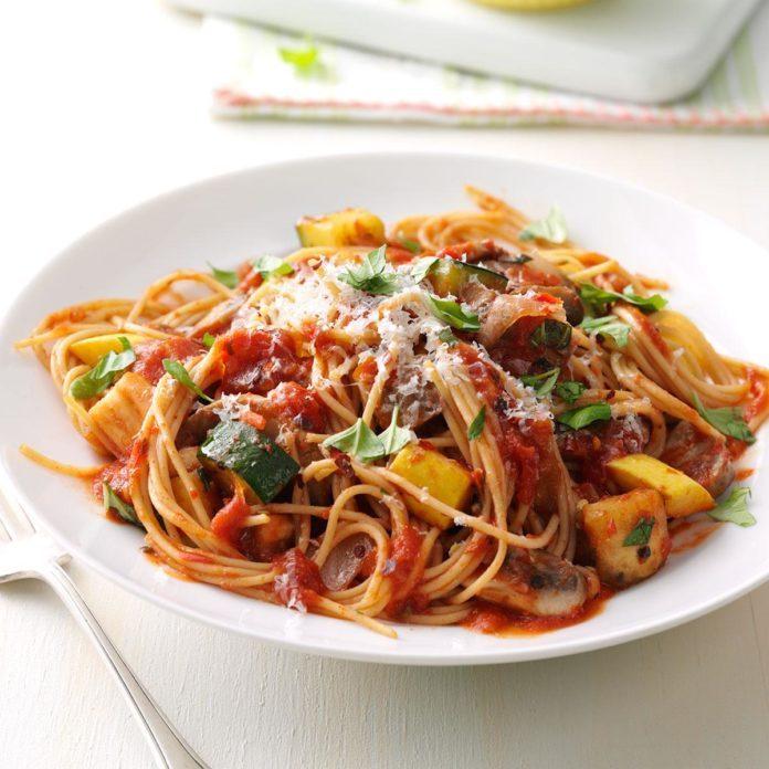 Rustic Summer Vegetable Pasta