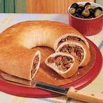 Sausage Cheese Olive Loaves
