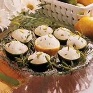 Lemon Verbena Ice Cups