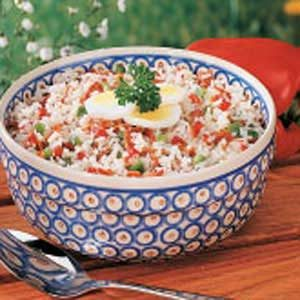 Hot German Rice Salad