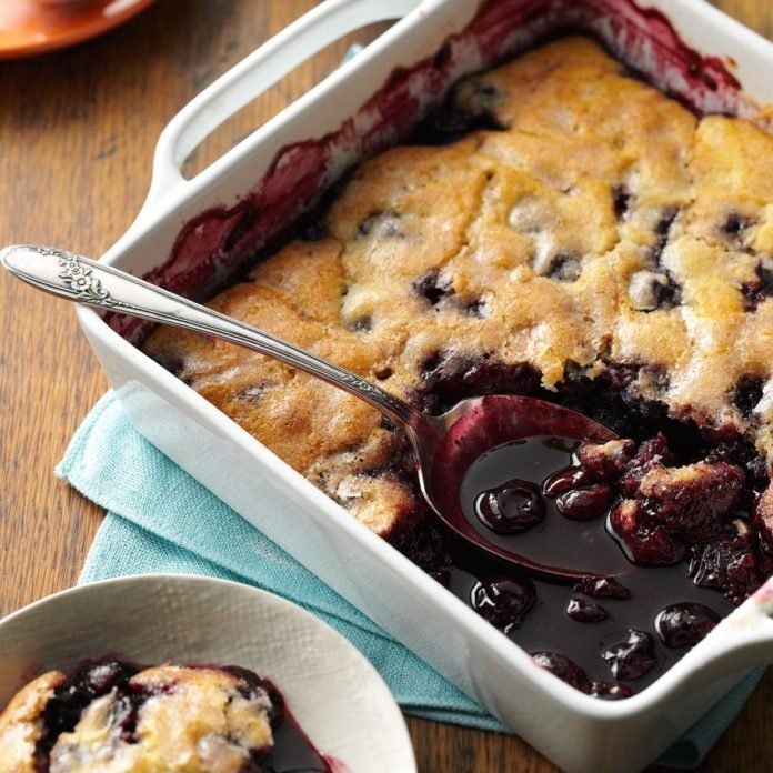 Almond Cherry Cobbler